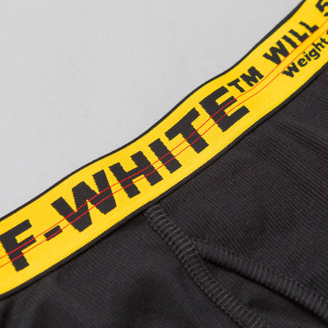 Off-White Tripack Boxer Shorts in Black/Yellow - Notre