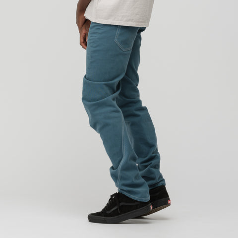 Off-White Twisted Denim in Petrol Blue - Notre