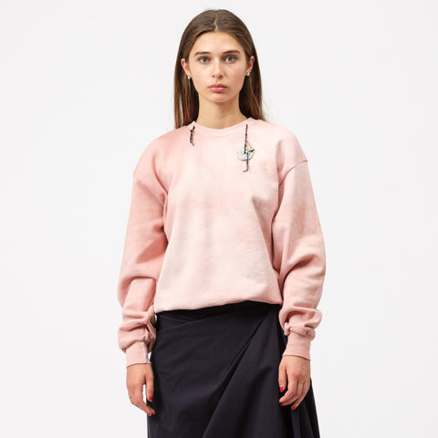 Ottolinger Crewneck Sweater with Chain in Pink - Notre