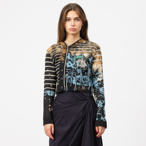 Ottolinger Knit Cardigan in Multi Blue - Notre