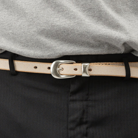 Our Legacy 2CM Belt in White - Notre