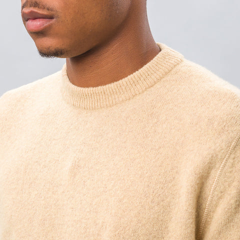 Our Legacy Base Roundneck in Camel Light Wool - Notre