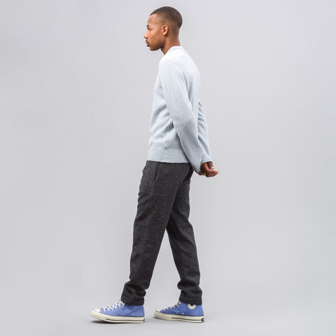 Our Legacy Base Roundneck Sweater in Blue Alpaca Wool - Notre
