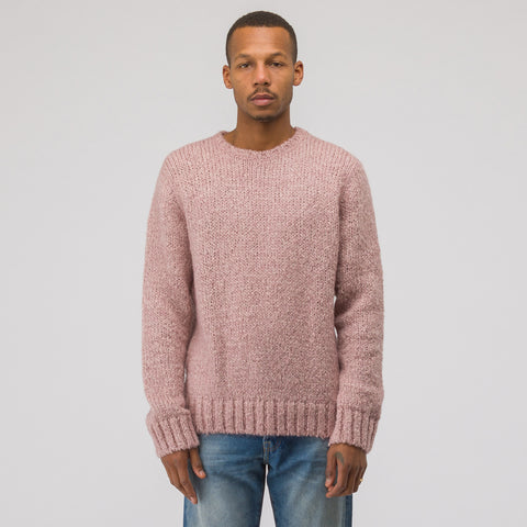 Our Legacy Base Roundneck Sweater in Pink Home Knit - Notre
