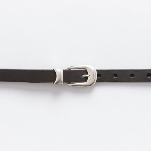 Our Legacy 2 CM Belt in Black - Notre