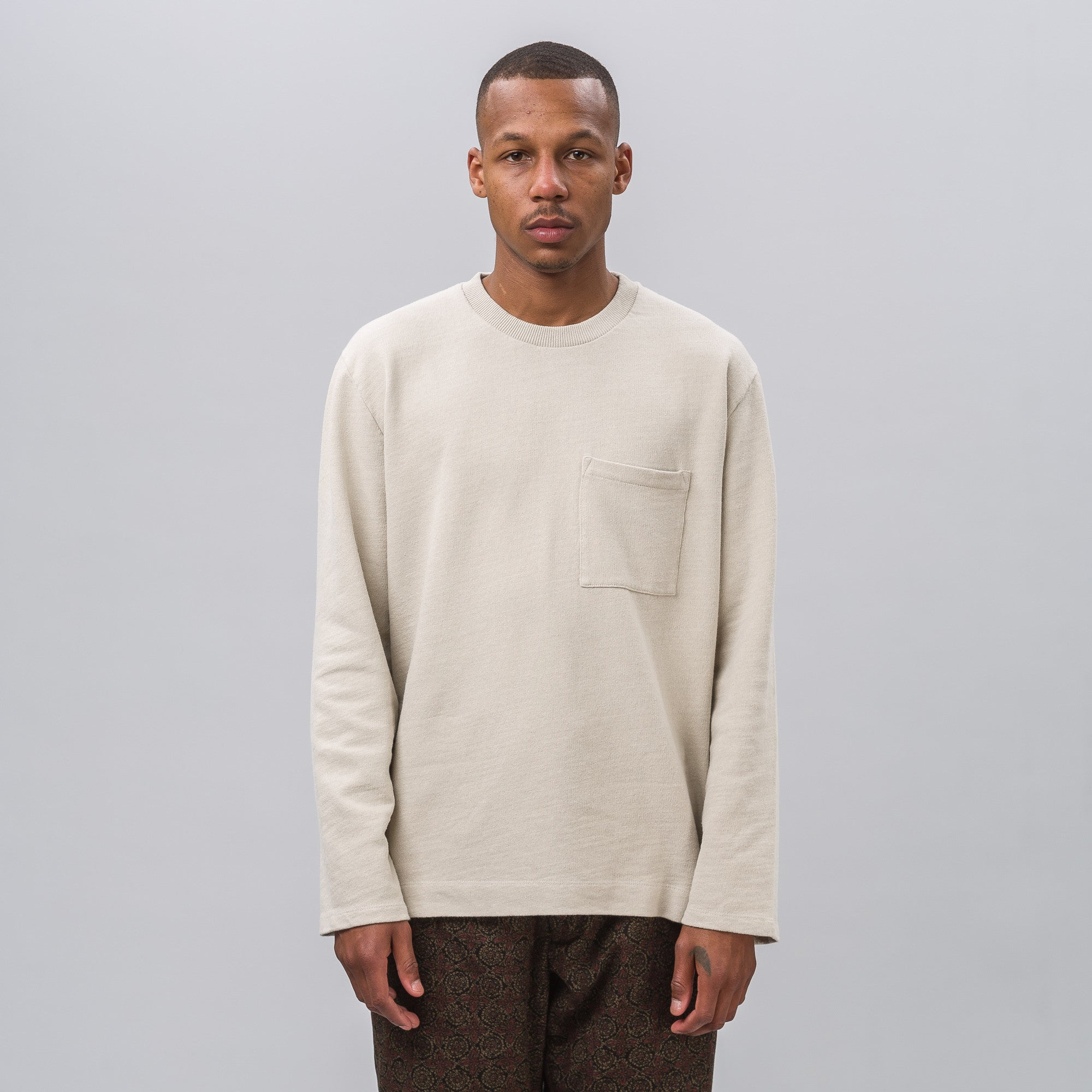 Box Longsleeve in Sand Cotton
