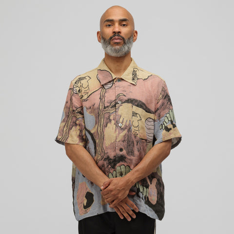 Our Legacy Box Shirt Short Sleeve in Acid Landscape Print - Notre