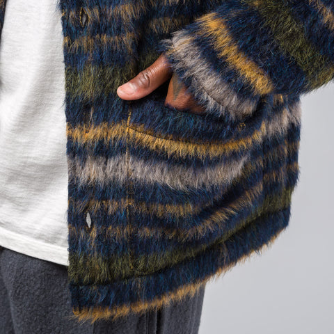 Our Legacy Mohair Blend Cardigan in Check - Notre