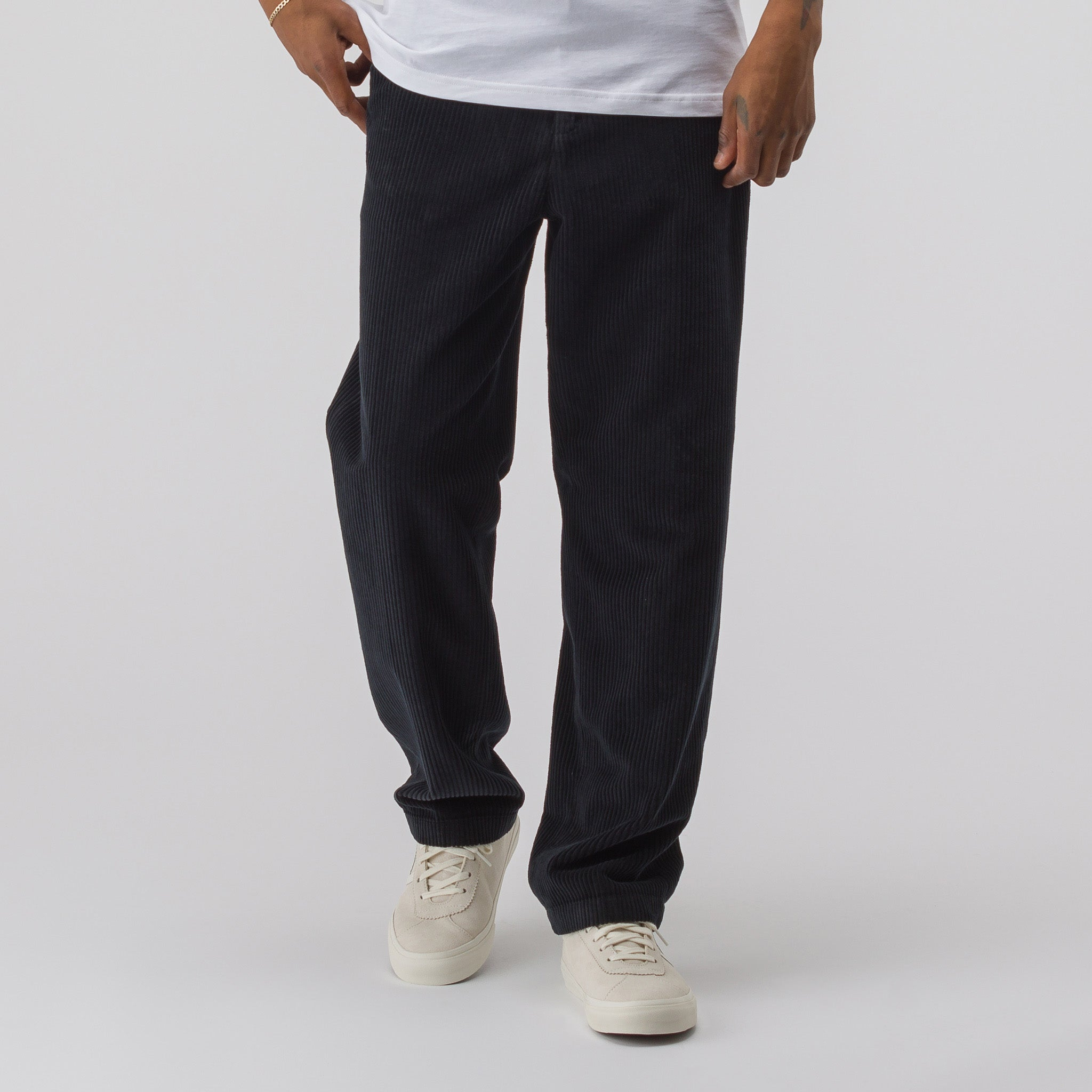 Chino 22 in Washed Black Corduroy