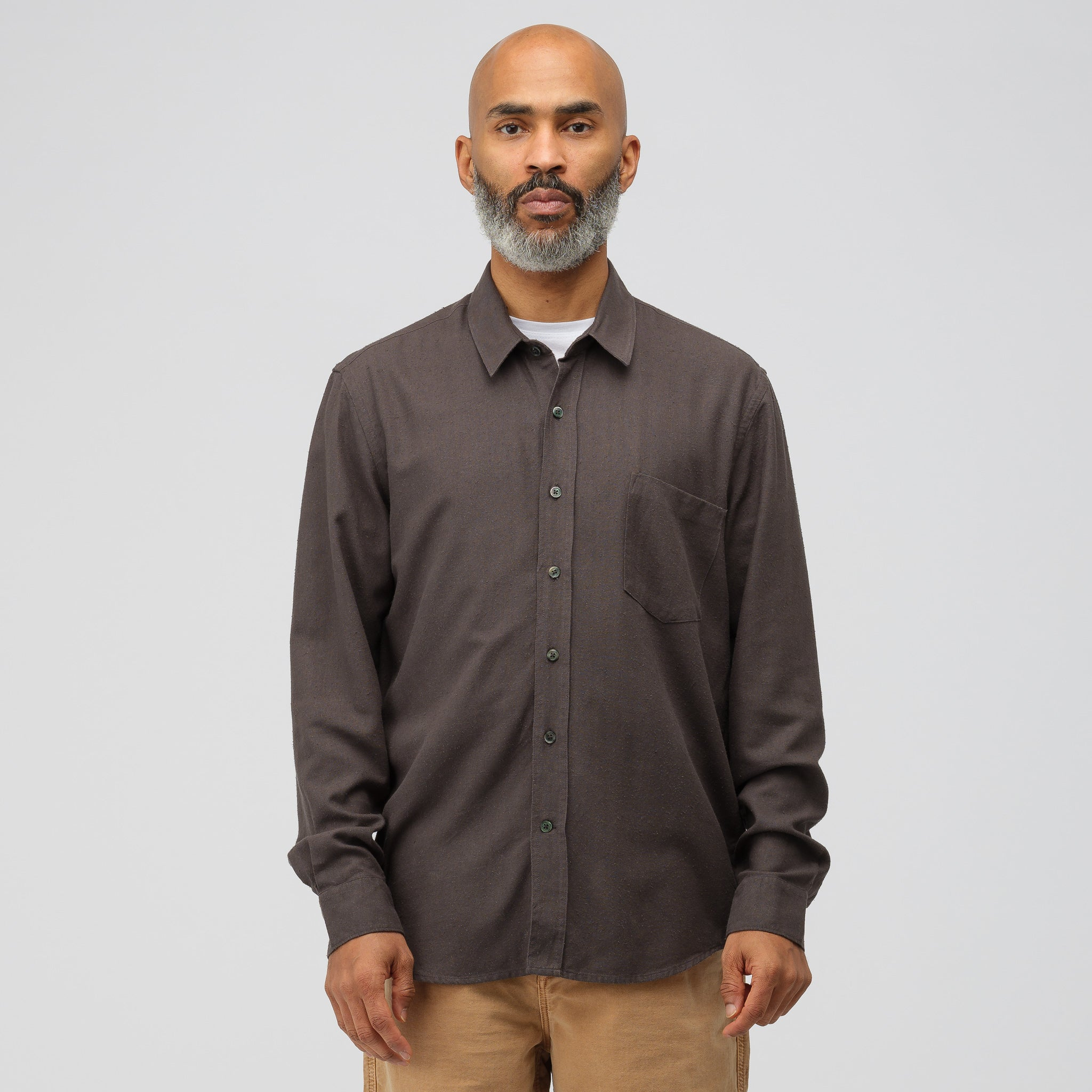 3f4c22a6caa8c2 Classic Shirt in Forest Black · Our Legacy