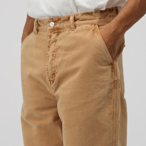 Our Legacy Commando Trousers in Camel Moleskin - Notre