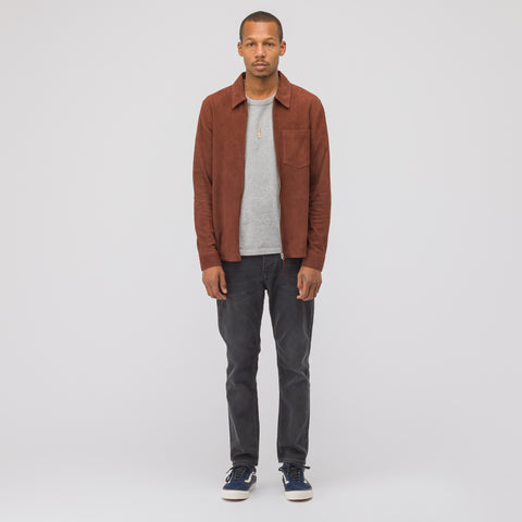 Our Legacy Suede Zip Shirt in Brown - Notre