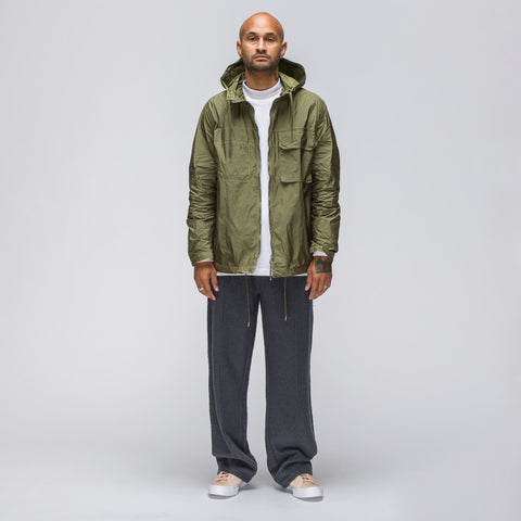 Our Legacy Cropped Lizard Parka in Lemongrass - Notre