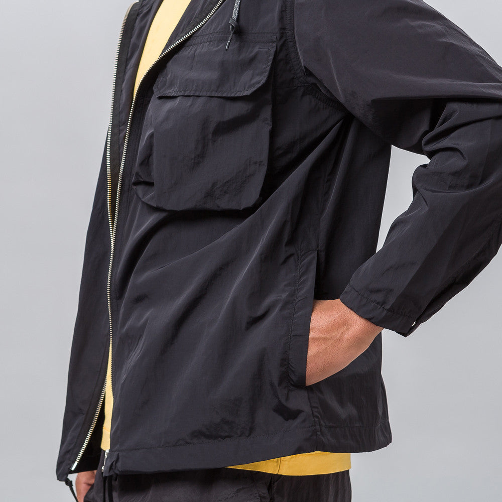 Our Legacy Cropped Lizard Parka in Navy Nylon - Notre