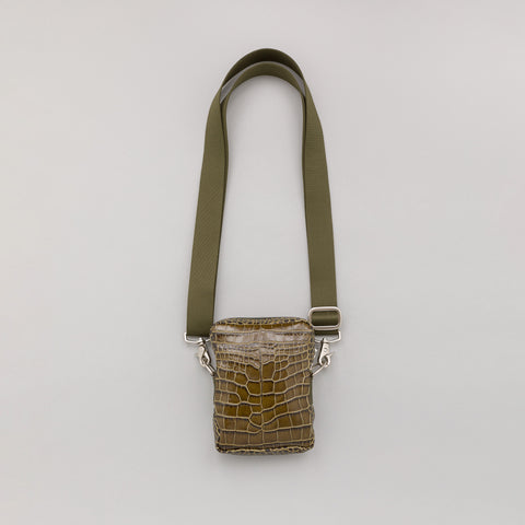 Our Legacy Delay Mini Bag in Green Crocodile - Notre