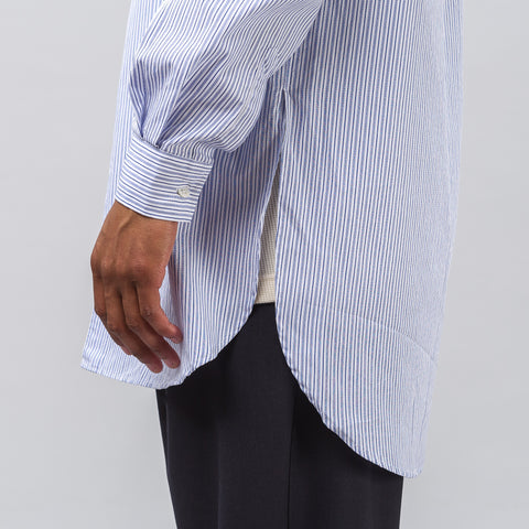 Our Legacy Dinner Shirt in Light Blue Club Stripe - Notre