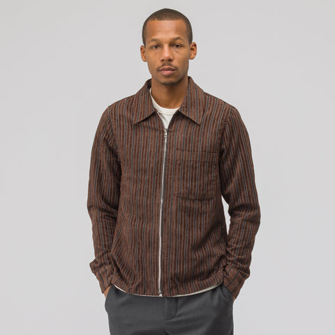 Our Legacy Drip Shirt in Brown Multi Corduroy - Notre
