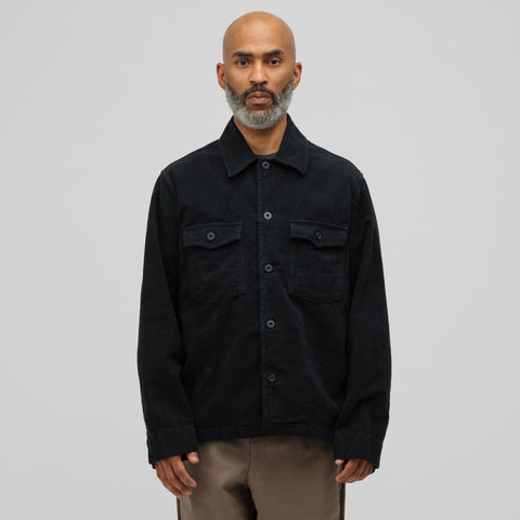 Our Legacy Evening Coach Jacket in Blueblack Moleskin - Notre