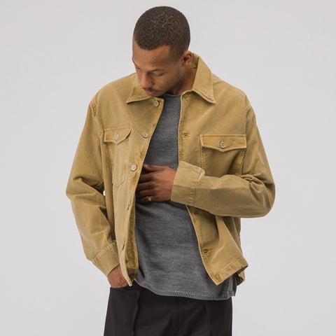 Our Legacy Evening Coach Jacket in Camel Vintage Moleskin - Notre