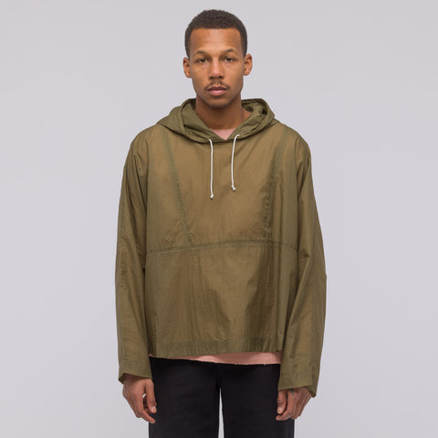 Our Legacy Festival Parka in Olive Toile Nylon - Notre