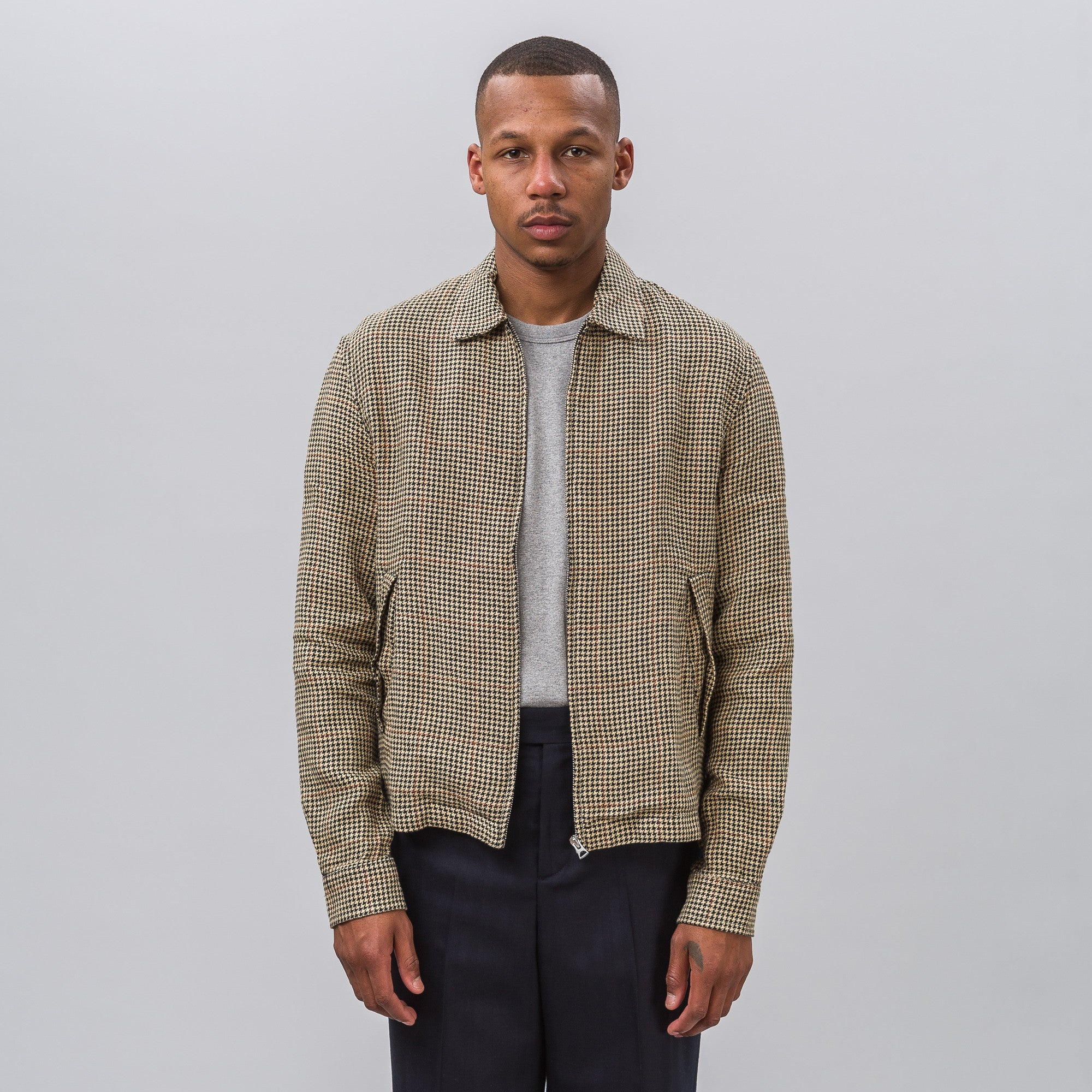 Fine Blouson in Houndstooth Tweed