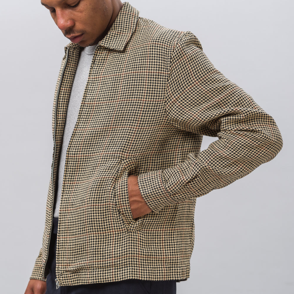 Our Legacy Fine Blouson in Houndstooth Tweed - Notre