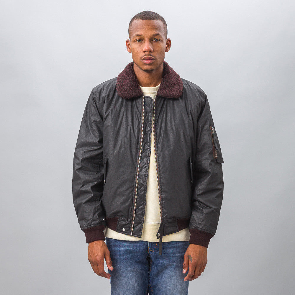 Our Legacy - Flight Jacket in Coated Black - Notre - 1
