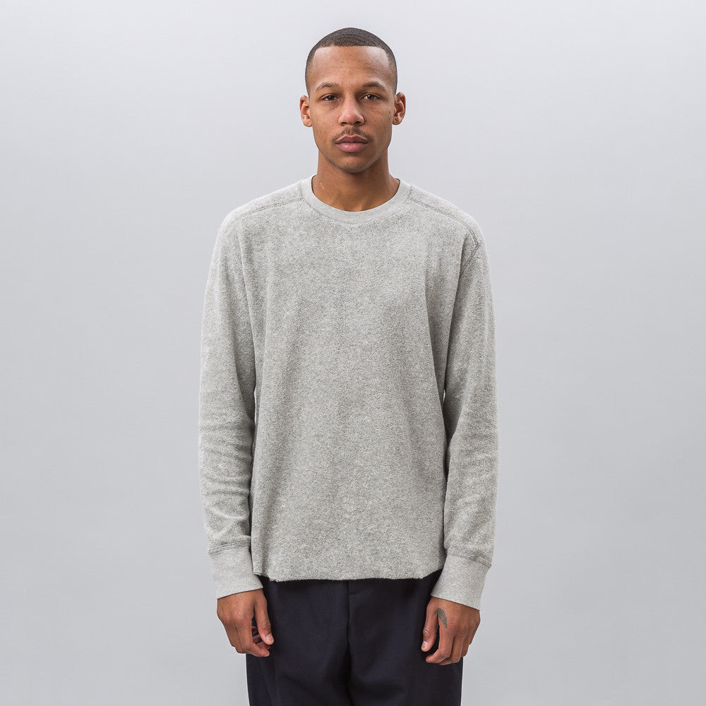 Our Legacy Football Longsleeve Sweatshirt in Grey Melange - Notre