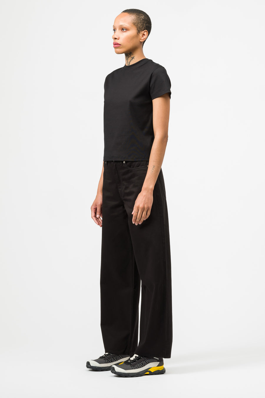 Our Legacy Full Cut Pant in Black Heavy Satin - Notre
