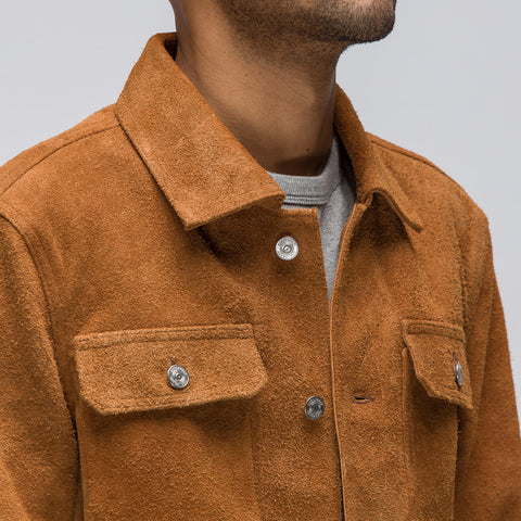 Our Legacy Heavy Suede Mono Jacket in Brown - Notre