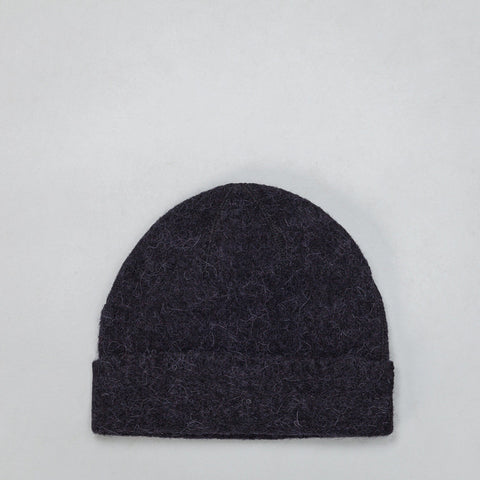 Our Legacy Knitted Hat in Black Needled - Notre