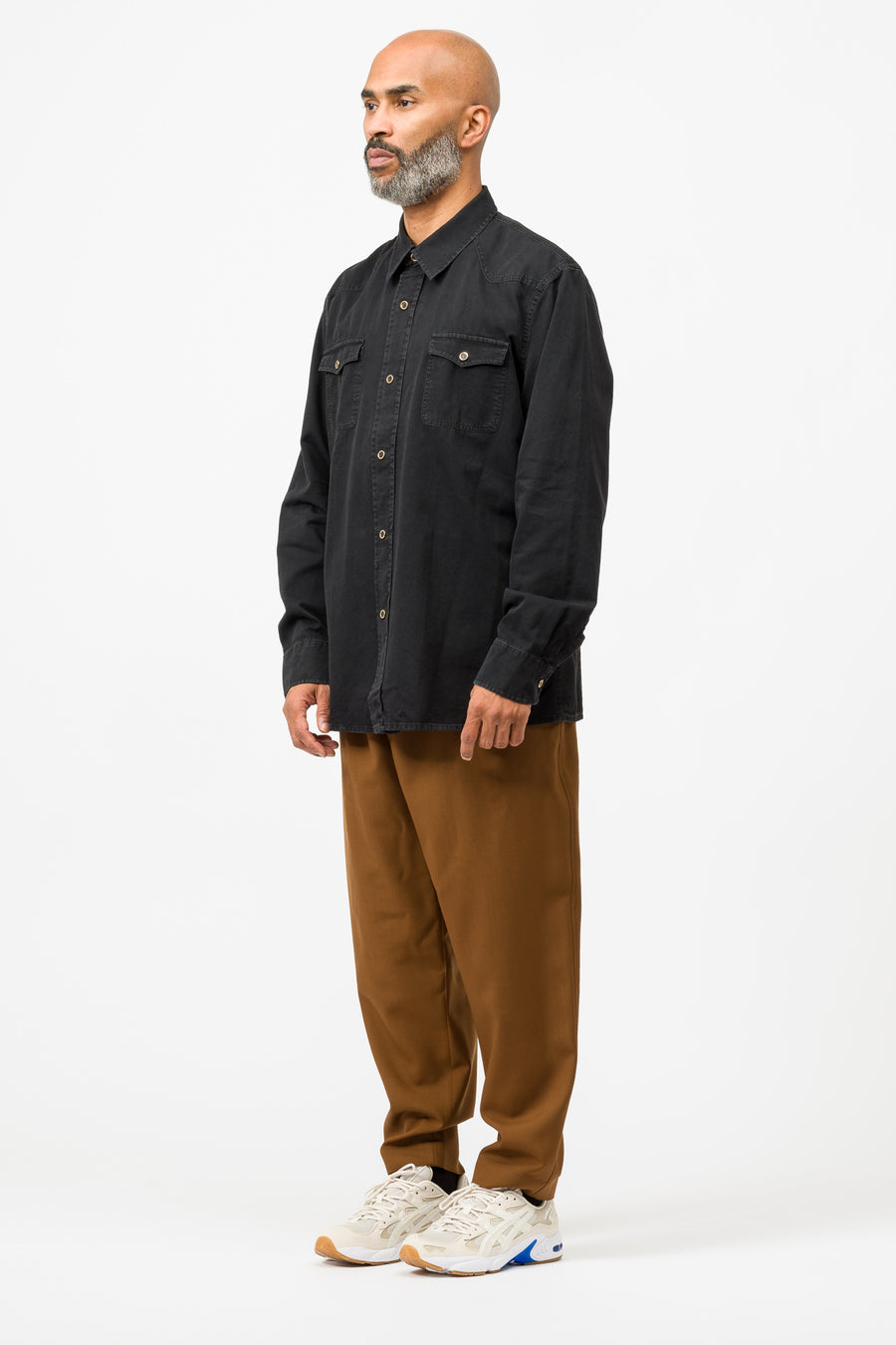 Our Legacy New Frontier Shirt in Black Denim - Notre