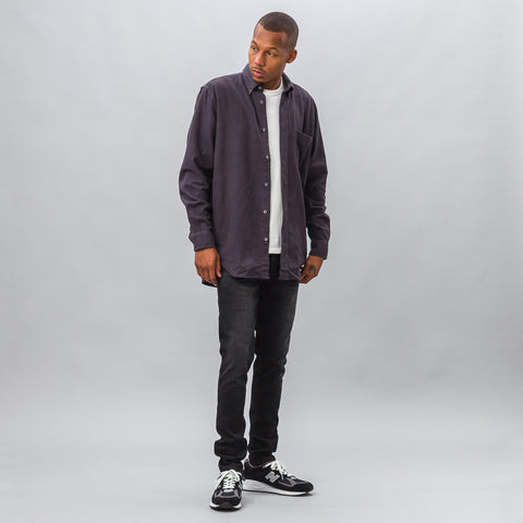 Our Legacy Original Button Down Ultimate Flannel in Smog - Notre
