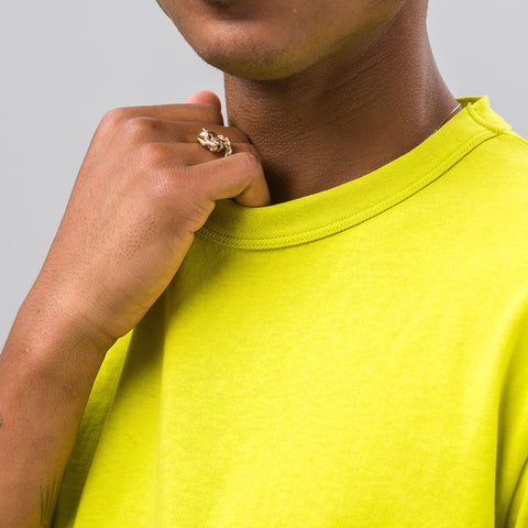Our Legacy Perfect T-shirt in Citron Army Jersey - Notre