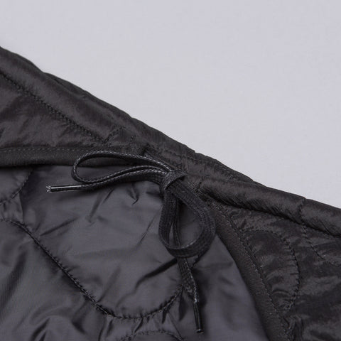 Our Legacy Quilted Scarf in Black Parachute Nylon - Notre