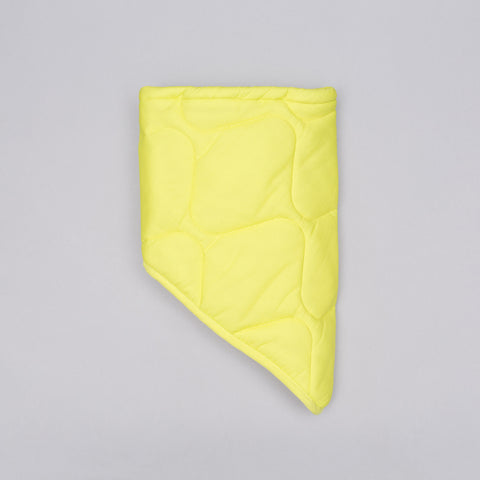 Our Legacy Quilted Nylon Scarf in Citron - Notre