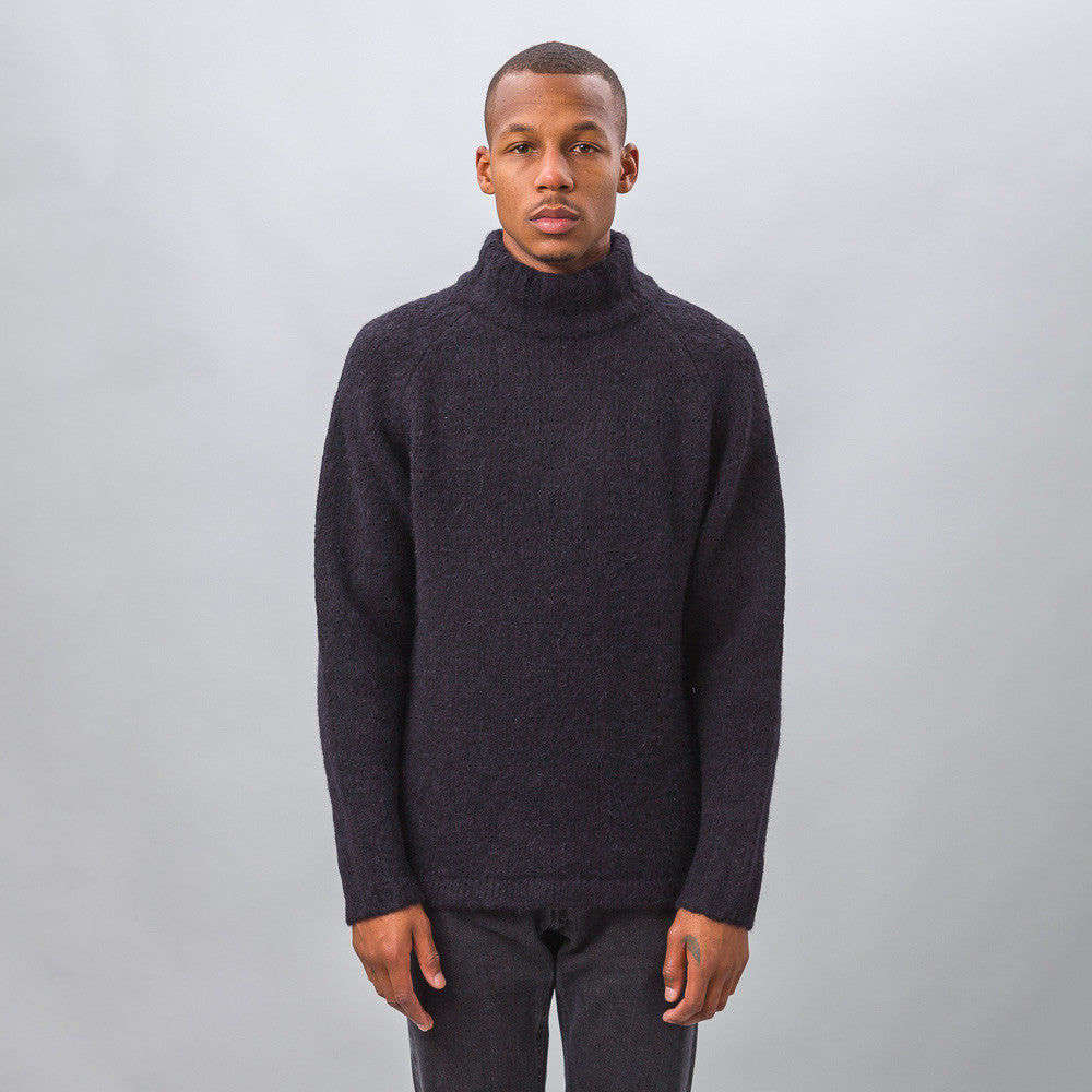 Our Legacy - Raglan Turtleneck in Black Needled - Notre - 1