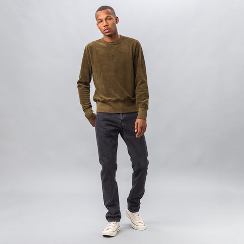 Our Legacy Reversed Sweatshirt in Dry Mudd Heavy Terry - Notre