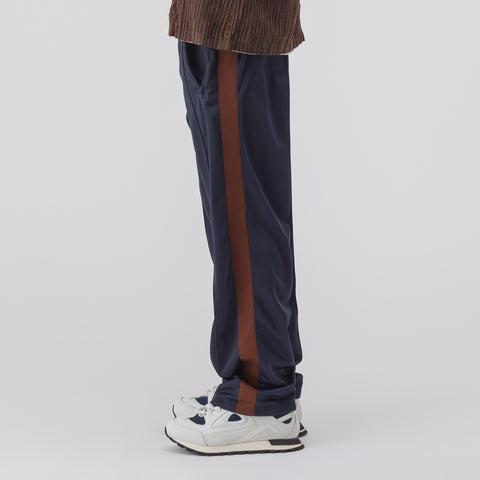 Our Legacy Side Stripe Track Pants in Navy/Brown - Notre