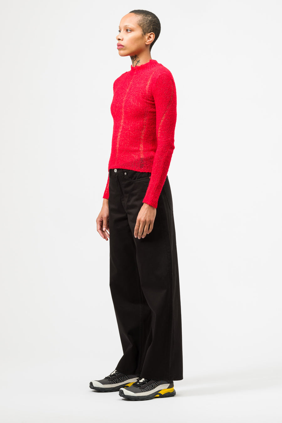 Our Legacy Slim Turtleneck in Red Airwool - Notre