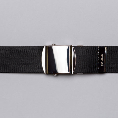 Our Legacy Webbing Belt in Black - Notre