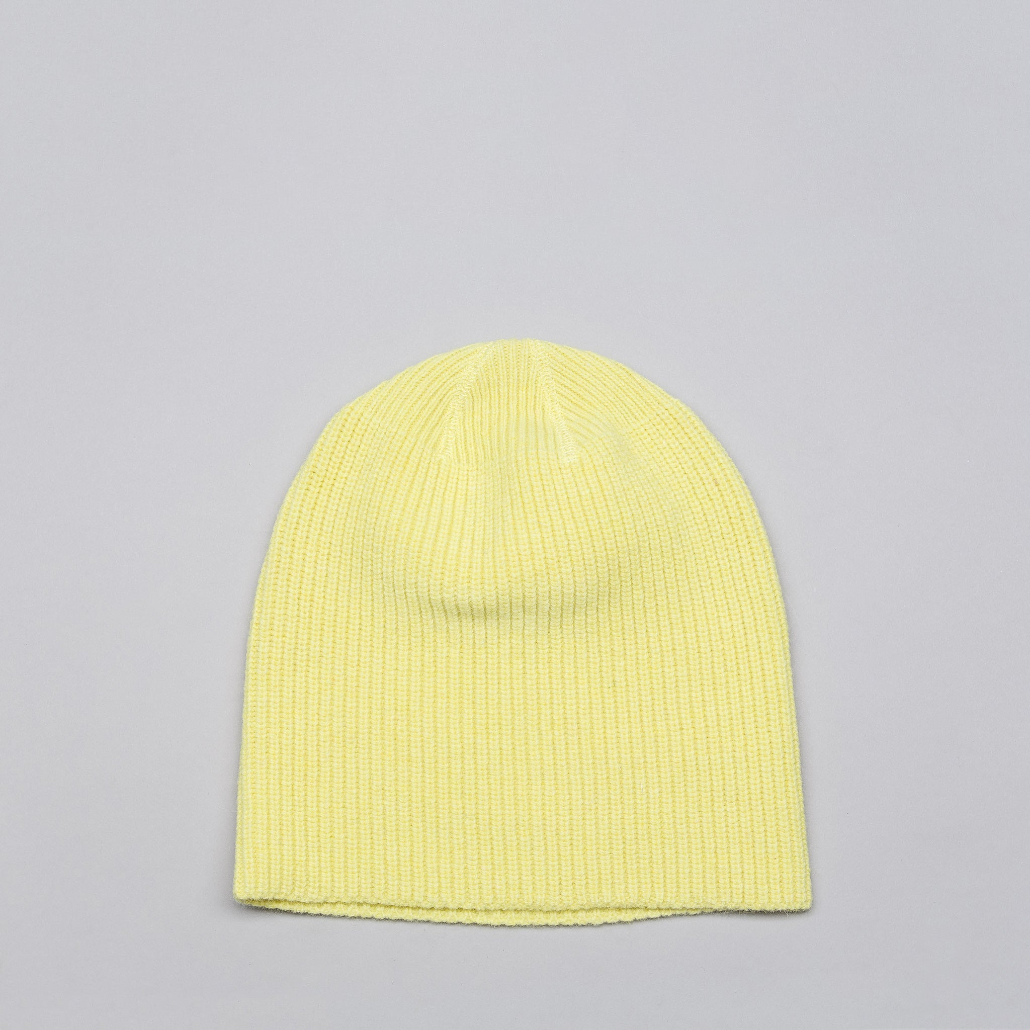 Wool Knitted Hat in Citron