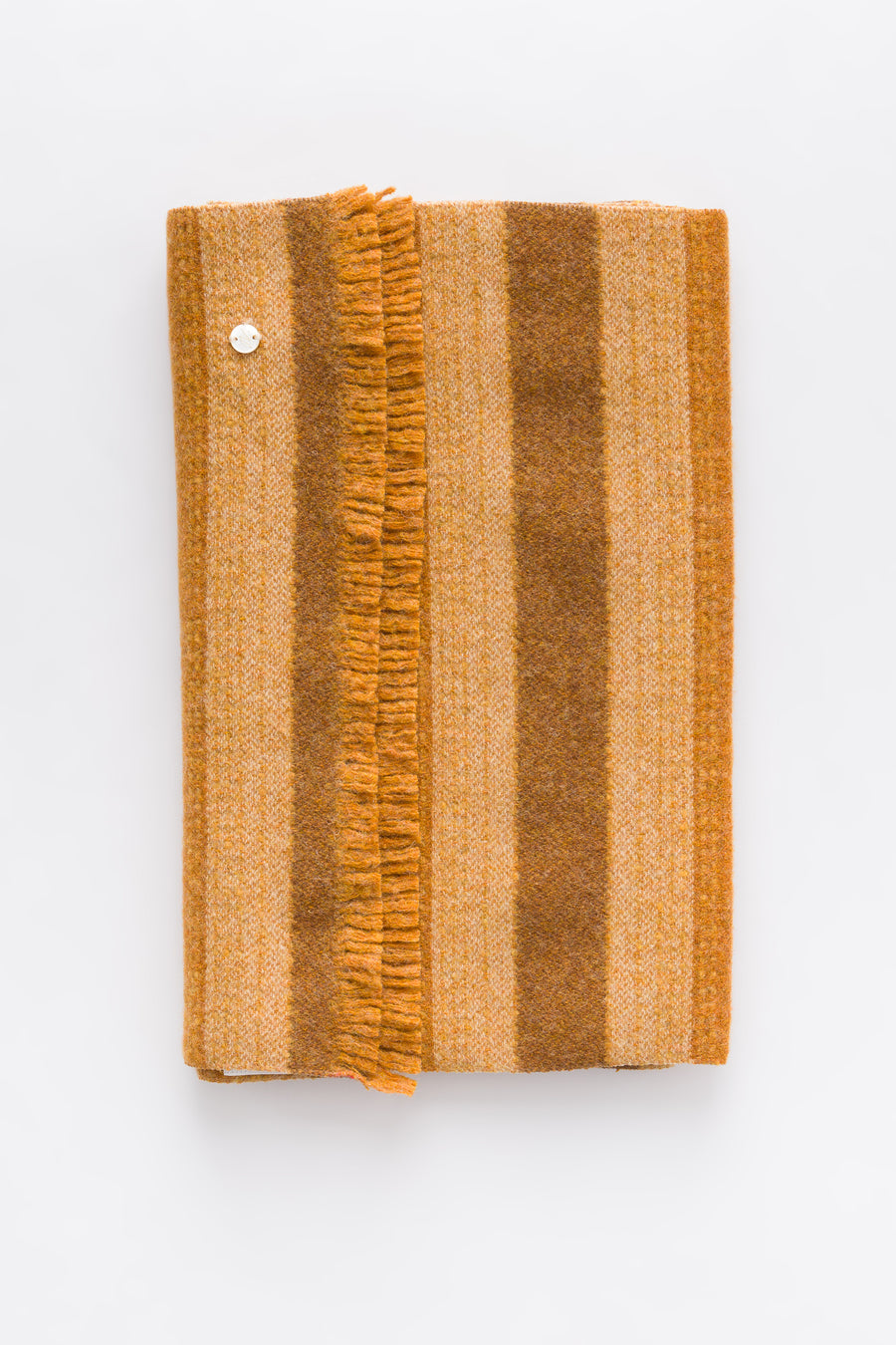 Our Legacy Wool Scarf in Brown Stripe - Notre