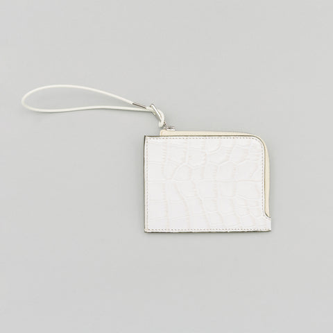 Our Legacy Turner Zip Wallet in Ice Crocodile - Notre