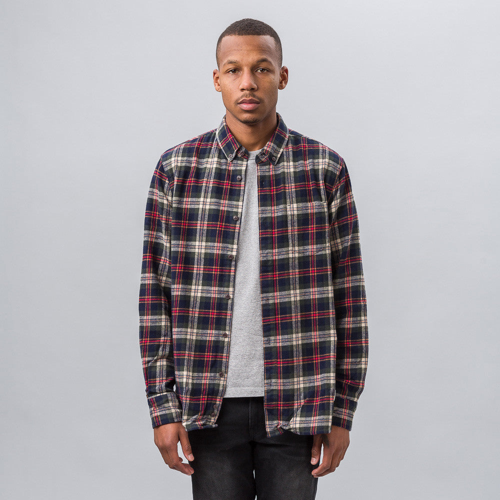Penfield Harmon Check Shirt in Grey - Notre