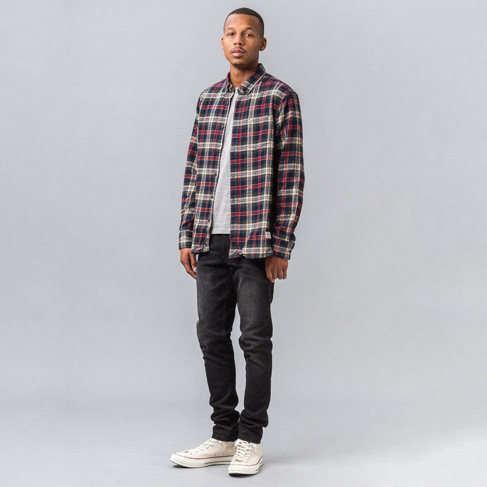 Penfield Harmon Check Shirt in Red/Grey - Notre
