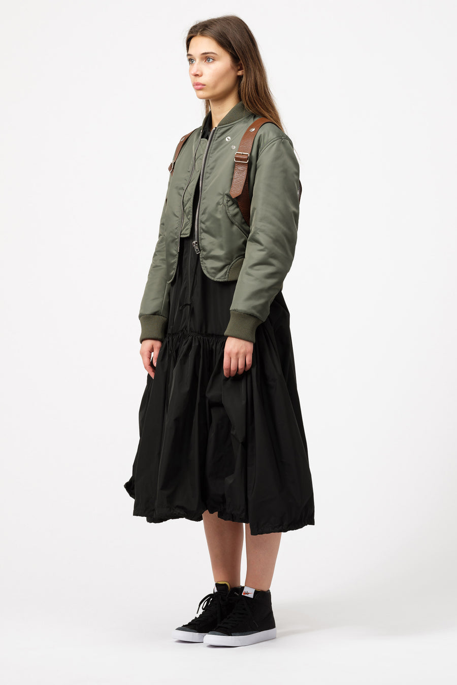 Pihakapi Military Bomber in Green/Warm Umber - Notre