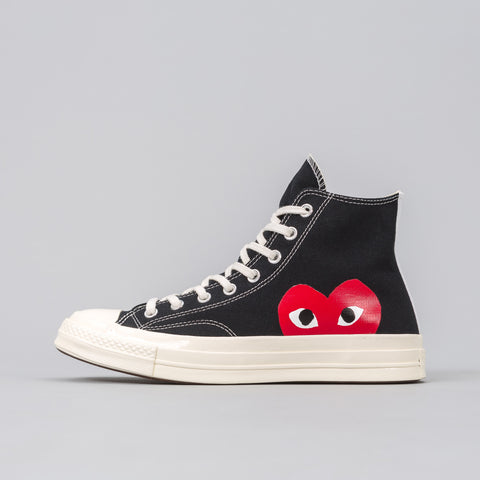 Converse x CDG Play CT70 Hi in Black - Notre