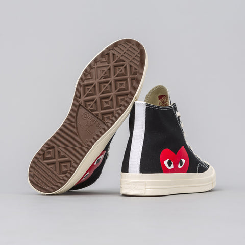 x CDG Play CT70 Hi in Black