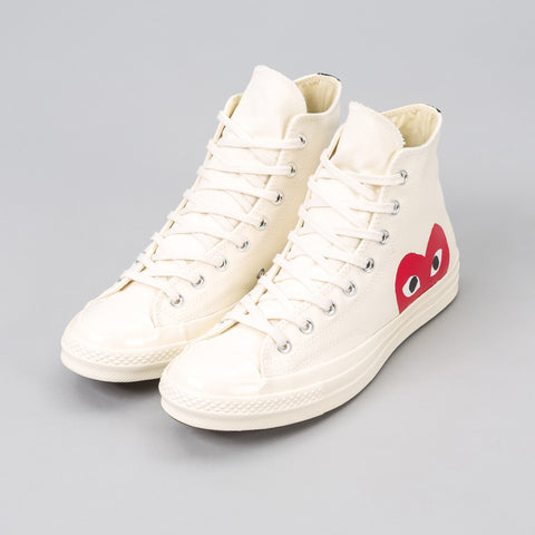Converse x CDG Play CT70 Hi in White - Notre